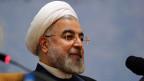 Der iranische Präsident Hassan Rohani. Iran hat die Einladung von Uno-Generalsekretär Ban Ki Moon an die Syrien-Friedenskonferenz in Montreux angenommen.