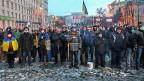 Die pro-europäischen DemonstrantInnen geben nicht auf: Singen im Zentrum Kiews am 20. Januar.