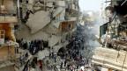 Ein vom Krieg zerstörtes Land. Die Stadt Aleppo im Norden Syriens.