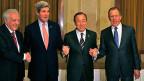In Montreux mit dabei: Lakhdar Brahimi, John Kerry, Ban Ki Moon, Sergej Lawrow.