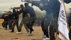 Mitglieder der islamistischen Ahrar-al-Sham-Brigaden - an einem unbekannten Ort in Syrien.
