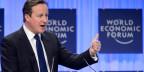 Der britische Premierminister David Cameron am World Economic Forum, WEF, in Davos, am 24. Januar 2014.