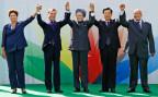 Die Regierungschefs der fünf BRICS-Staaten