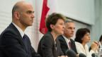 Der Bundesrat an der Pressekonferenz