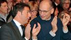 Im Dezember mochten die zwei noch zusammen klatschen: Matteo Renzi und Enrico Letta an einer Veranstaltung in Mailand.