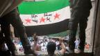 Die Flagge der freien syrischen Armee.