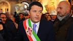 Matteo Renzi während einer Zeremonie im Palazzo Vecchio in Florenz, Italien, am 14. Februar 2014.