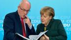 CDU-Fraktionschef Volker Kauder - der starke Mann hinter Bundeskanzlerin Angela Merkel.