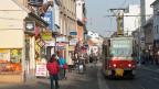 Eine Strasse in der slowakischen Hauptstadt Bratislava. Viele SlowakInnen würden lieber hier als im Ausland arbeiten.