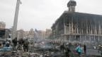 Zustände fast wie im Krieg. Kiew, am 20. Februar 2014.