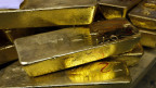 Ein-Kilogramm Goldbarren im Lager der Goldverarbeitungsfirma Argor-Heraeus in Mendrisio, Tessin, Schweiz.