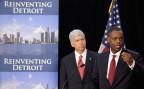 Der Sanierer von Detroit, Kevyn Orr und der Gouverneur von Michigan, Rick Snyder
