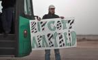 ein Palästinenser ruft zum Boykott von Israel auf