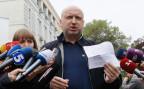 Übergangspräsident Oleksandr Turchynov vor den Medien