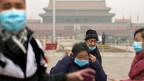 Unterwegs in Peking, am 24. Februar.