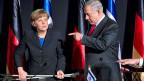 Die deutsche Kanzlerin angela Merkel und der israelische Premier Benjamin Netanyahu in Jerusalem.