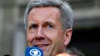 Der ehemalige deutsche Bundespräsident Christian Wulff nach seinem Freispruch in Hannover.