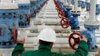 Die Erdgas-Pipeline, die von Russland nach Westeuropa führt.