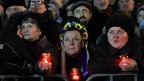 Trauer um die Toten - auf dem Unabhängigkeitsplatz in der ukrainischen Hauptstadt Kiew.