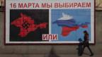 Propaganda-Plakat auf der Krim.