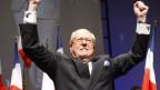 Jean Marie Le Pen an einer Wahlveranstaltung