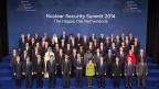 Fototermin für Teilnehmer und Teilnehmerinnen des Atomsicherheitsgipfels in Den Haag.