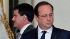 Der neue sozialdemokratische Premier Manuel Valls mit seinem Präsidenten François Hollande.