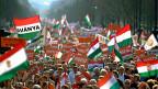 AnhängerInnen der Fidesz-Partei an einer Kundgebung in Budapest.