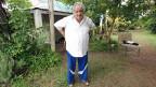 Uruguays Präsident José Mujica in seinem Garten.