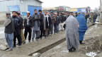 Lange Schlangen vor den Wahllokalen in Kabul.