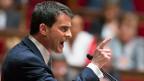 Der neue französische Premier Manuel Valls während seiner Regierungserklärung vor der «Assemblée Nationale».