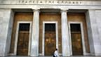 Die griechische Zentralbank in Athen. Die Investoren reissen sich um die Staatsanleihen.