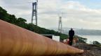 Erstmals scheinen Chancen zu bestehen, in den Verhandlungen um russische Erdgaslieferungen nach China einen Durchbruch zu erzielen.  Bild: Gas-Pipeline in der Nähe von Wladiwostok, im äussersten Osten Russlands.