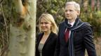 Die australische Anwältin Jennifer Robinson mit Wikileaks-Gründer Julian Assange.