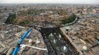 Luftaufnahme der kurdischen Stadt Erbil im Norden Iraks.