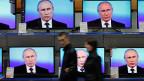 Russlands Präsident Wladimir Putin - auf allen Kanälen.