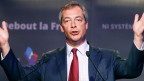 Nigel Farage, Führer der UK Independence Party (UKIP), während einer Rede am 13. April 2014.