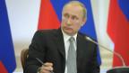 Der Kreml ist nicht sehr beeindruckt von den Sanktionen. Bild: Der russische Präsident Wladimir am 28. April 2014.