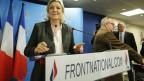 Der Front National ist salonfähig geworden. Bild: Marine Le Pen, Parteiführerin der französischen, rechtsextremen Partei Front National.