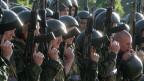 Putins Armeereform beginnt zu greifen - weg von der Masse, hin zur Qualität. Bild: Soldaten einer Spezialeinheit des russischen Innenministeriums.