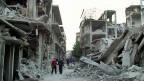 Die kriegszerstörte Stadt Homs ist nun wieder unter der Herrschaft Assads.