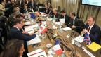Vorarbeit zum G7-Gipfel im Juni: Die Energieminister der sieben führenden Industrienationen bei ihrem Treffen in Rom.