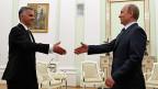 Didier Burkhalter und Wladimir Putin in Moskau.