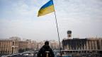 der grosse Platz im Zentrum Kiews, der Maidan, ist noch immer besetzt.