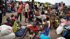 Flüchtlinge von der ethnischen Gruppe der Dinka.