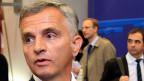 Didier Burkhhalter am Montagmorgen in Brüssel beim Treffen der EU-Aussenminister zum Thema Ukraine.