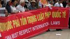 Proteste gegen China in der vietnamesischen Hauptstadt Hanoi.