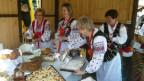 Schlesische Landfrauen auf dem Breslauer Markt