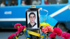 Harsche Vorwürfe der Beobachter des Uno-Menschenrechtsrates zielen vor allem auf die pro-russischen Milizen in der Ostukraine. Bild: Gedenk-Bild eines ermordeten pro-ukrainischen Aktivisten in Odessa.
