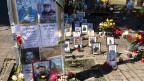 An vielen Orten rund um den Maidan in Kiew wird immer noch der getöteten Aktivisten gedacht.